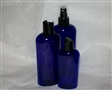 Cobalt Blue PET Oval Bottles with black caps