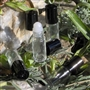 Glass Perfume Roll On Bottle - Black Cap