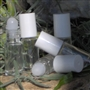 Glass Perfume Roll On Bottle - White Cap