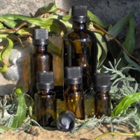 Amber Glass Bottles with Black Tamper Resistant Dropper Insert Caps - Bouteilles en verre ambre
